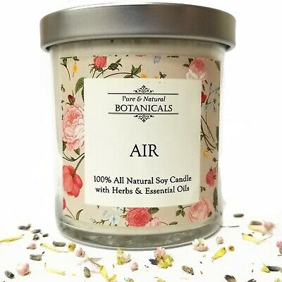 FIRE SOY HERBAL Candle 100% All Natural Passion Creativity Wiccan