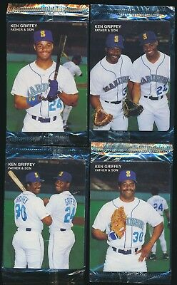 6fe99cacac 1991 MOTHER'S COOKIES Ken Griffey JR/SR *UNCUT SHEET!* RARE MARINERS ...