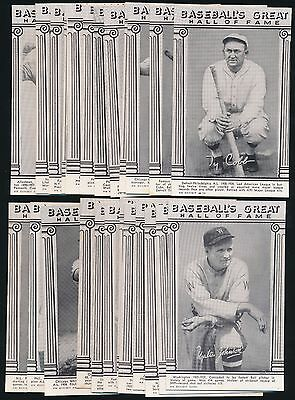 "1974 Exhibit Hall of Fame ""Reprint"" -Complete Set (24) -TY COBB, JOHNSON HORNSBY"