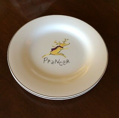 Pottery Barn REINDEER Prancer Dinner Plate