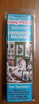 Vintage Easy Punch Automatic Embroidery Machine, #8301E, 1985