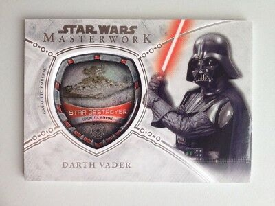2018 Topps Star Wars Masterwork Darth Vader Vehicle Emblem #110/175