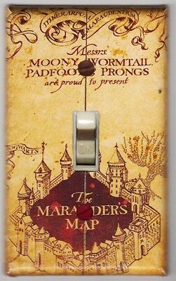 Harry Potter Mararaders Map Light Switch Cover Plate - Harry Potter Home Decor
