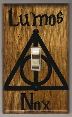 Harry Potter Lumos Nox Light Switch Cover Plate - Harry Potter Home Decor