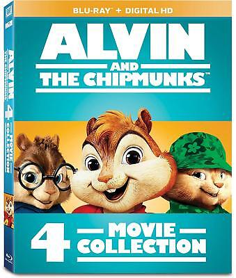 NEW! Alvin and the Chipmunks: 4-Movie Collection BLU-RAY + DIGITAL HD!