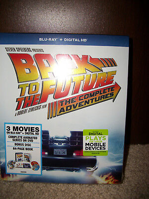 New! BACK to the FUTURE The Complete Adventures Blu-ray + Digital! Trilogy Anima