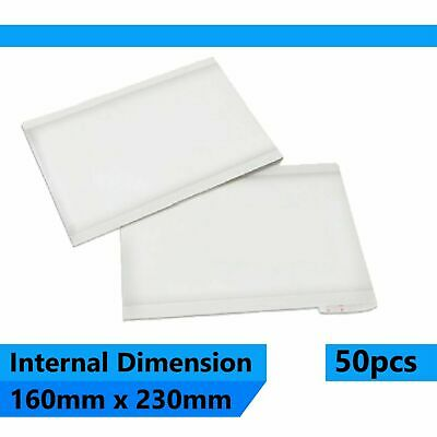 50 pcs 160x230mm Bubble Padded Bag Mailer White Plain Kraft Cushioned Envelope