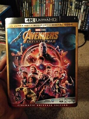 Avengers: Infinity War w/Slipcover (4K Ultra HD, Blu-ray) No Digital Copy
