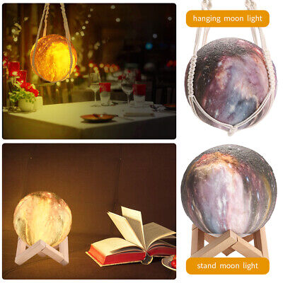 Moon Light 3D Printing Lamp Night LED Moonlight Color Changing USB Touch Lunar