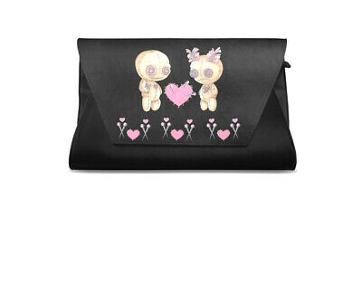 Sweet Midnight Voo Doo Dolls Love Hearts Gothic Punk Halloween Occult Clutch Bag