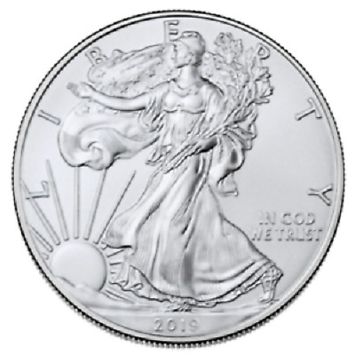 Roll-of-5-2019-1-oz-Silver-American-Eagle-Coin-BU-Lot-Tube-of-5