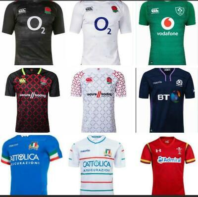 England Scotland Ireland Italy Wales Rugby Jersey Short Sleeve Shirts Size S-3XL