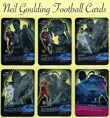 Champions League CRYSTAL 2018-2019 ☆ LEGGENDE UCL ☆ Football Cards #121 to #125