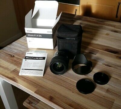 Superb Sigma Art 35mm F1.4 DG HSM Lens for Nikon, Boxed with Caps, Hood
