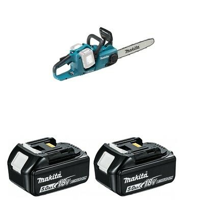 Makita DUC353Z Twin 18v 36v Cordless Chainsaw With 2  BL1850 18v 5.0ah Batteries