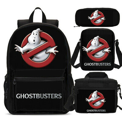 Ghostbusters Kids School Backpack Insulated Lunch Box Shoulder Bag Pen Case Lot