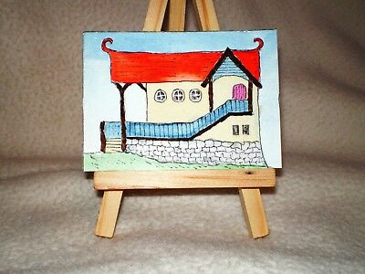 Original Ink & Watercolour Painting ACEO – Quirky Street No. 4 - RGS-ART