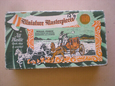 "MINATURE MASTERPIECES ""Wells Fargo Stage Coach""  1953 EMPTY BOX ONLY"