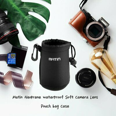 NEW Matin Neoprene Soft Camera Lens Pouch bag Case Size- S M L XL MT