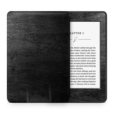 Black Timber Vinyl Skin Sticker Wrap to Cover, Protect & Personalise Kindle