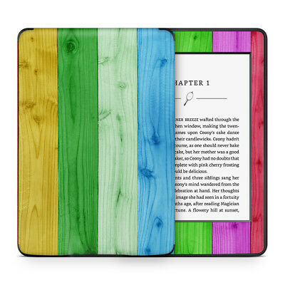 Rainbow Wood Panel Vinyl Skin Sticker Wrap to Cover Protect & Personalise Kindle