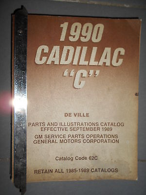 GM CADILLAC - DeVille 1990 : parts catalog