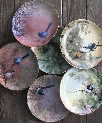 Set Six Fairy-Wrens Of Australia Collector Plates Westminster Richard Weatherly