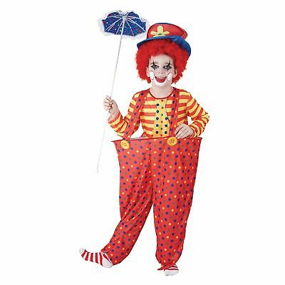 Child Hoop Clown Costume Circus Boys Girls Fancy Dress Outfit