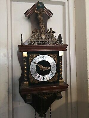 Dutch Warmink Franz Hermle Weight Driven Wall Clock.