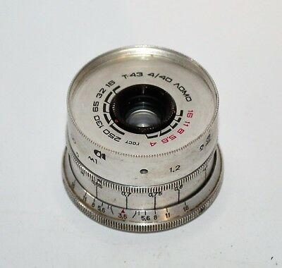 HAND MADE M39 mount USSR SILVER LOMO T-43 f4/40 LENS from SMENA-8m (1)