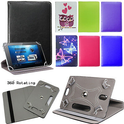 """For Huawei MediaPad T3 7.0"""" Tablet 360° PU Leather Universal Stand Case Cover"""