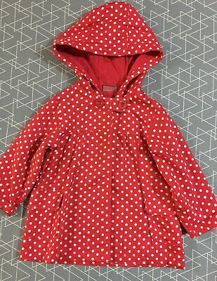 Sprout Girls Long Hooded Jacket Size 2