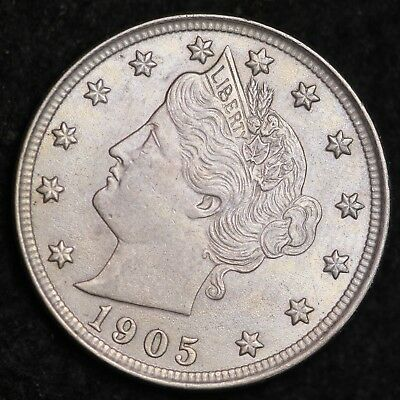 1905 Liberty V Nickel CHOICE BU FREE SHIPPING E249 WMT