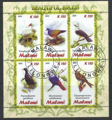 Malawi 2011 Beautiful Birds Used Ms Not Listed In Sg