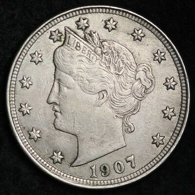 1907 Liberty V Nickel CHOICE XF+ FREE SHIPPING E266 KM