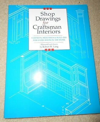 Shop Drawings CRAFTSMAN Interiors Cabinets Moldings Built-Ins for Home by Lang
