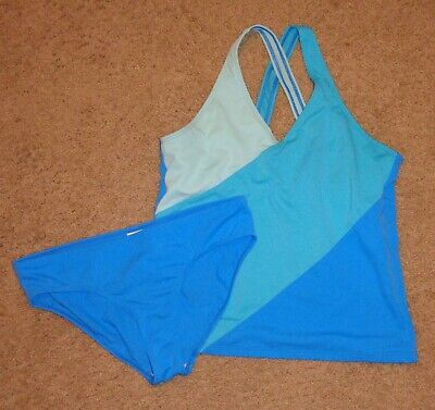 3fe747a875 NWOT GIRLS BLUE Color Block Tankini Swimsuit From Lands' End Sizse ...