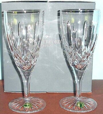 Waterford Lismore Traditions Iced Beverage Set of 2 Ireland Starburst Base NEW