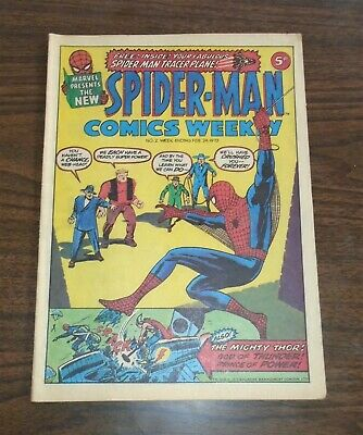 Spiderman British Weekly #2 February 24 1973 Marvel Fn (6.0)