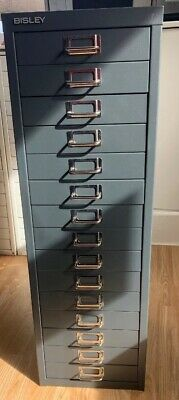 Bisley - 15 Multi Drawer Filing Cabinet Dark Grey