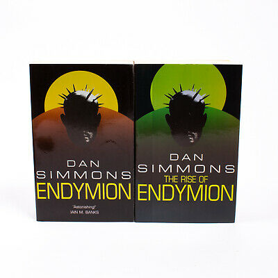 Endymion Book BUNDLE - 2x Dan Simmons Paperback Books - Endymion & The Rise Of..