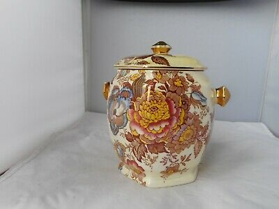 """MALING""""PHEASANT OLD GOLD""""BISCUIT BARREL-15cms high and 11cms diameter"""