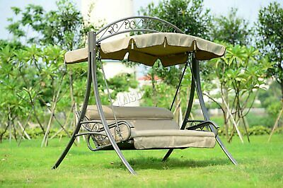 WestWood Garden Metal Swing Hammock 3 Seater Chair Bench Patio Outdoor SC03