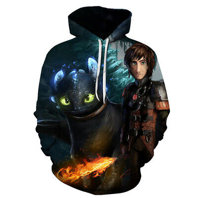 Fashion Women Men 3D Pullover Sweatshirt How To Train Your Dragon Printed Hoodie