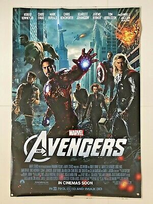 The Avengers | original DS one sheet movie poster 27x40 INTL | Marvel End Game