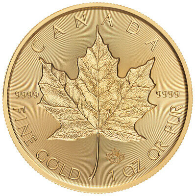 2019 Canada 1 oz Gold Maple Leaf Incuse $50 Coin GEM BU SKU57476