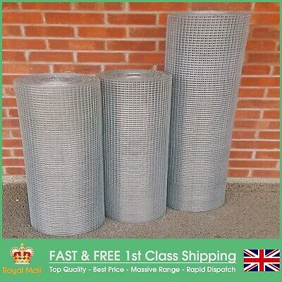 """1/2"""" x 1/2"""" Heavy Duty Galvanised Welded Mesh (1/2"""" x 1/2"""" Hole x 1mm Wire)"""