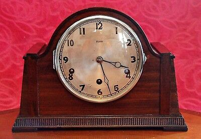 Vintage Art Deco 'Cox & Son' & 'HAC' Mantel Clock with Westminster Chimes