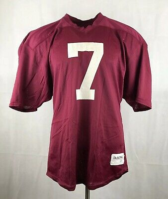 1165ce48c Vintage DeLong American Football Jersey Nylon Made In USA Burgundy #7 Sz 44  Mens
