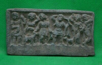 Ancient Roman Bronze Plaque With Beautiful Relief - 300/400 Ad - Extremely Rare